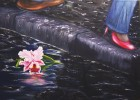 Blüte, Schuhe, Malerei, Regen