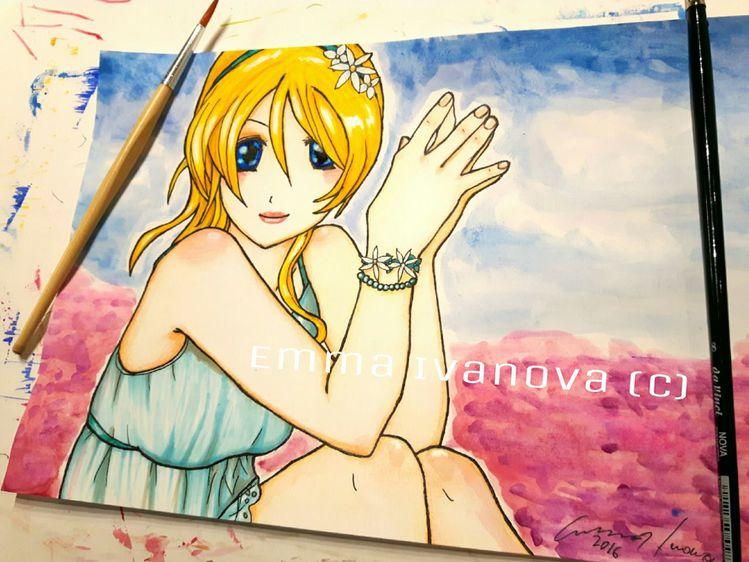 Anime, Charakter, Lovelive, Liebe, Fanart, Zeichnungen