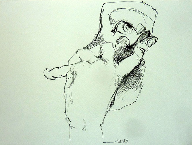 Schatten, Hand, Gesicht, Blick, Tuschmalerei, Zeichnungen