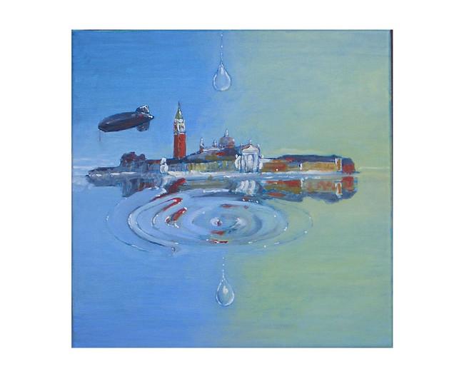 Venedig, Trpfen, Surreal, Malerei, Erinnerung