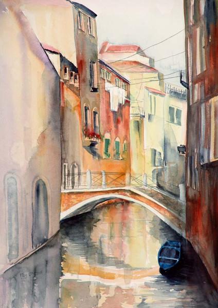 Rio, Italien, Malerei, Kanal, Landschaft, Venedig