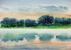 Dunst, Busch, Nebel, Malerei
