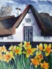 Bauernhaus, Friesenhaus, Aquarellmalerei, Landschaft