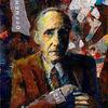 Schneiden, Kassenzettel, Burroughs, Acrylmalerei