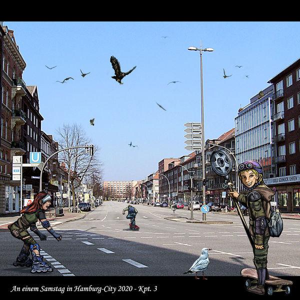 Wartenau, Apocalyptickids, Illustration, Hhinnenstadt, Konzept, Hamburgillustrators