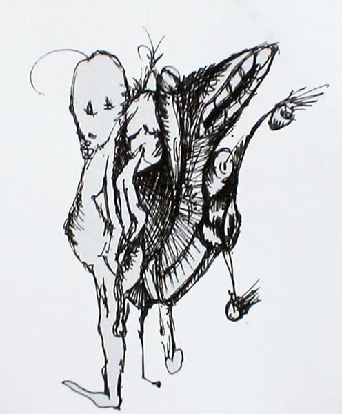 Zeichnung, Zeichnungen, Schmetterling