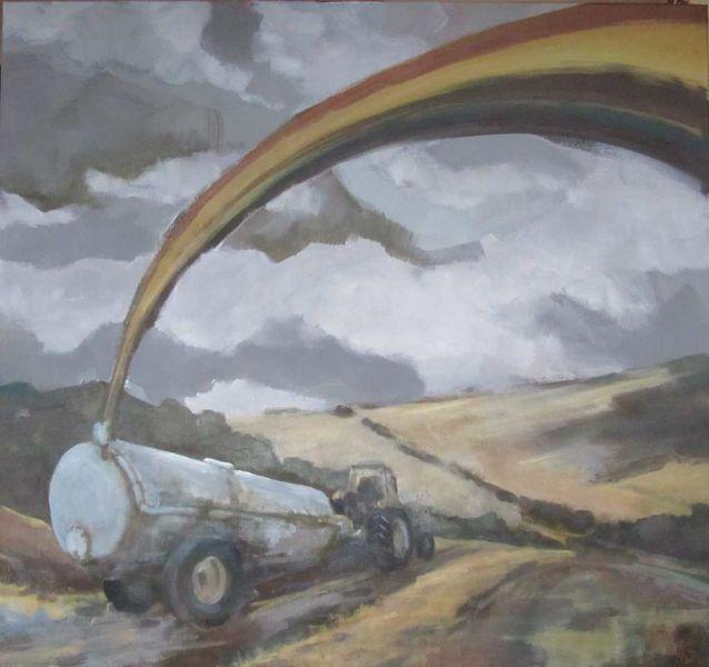 Regenbogen glück gülle, Malerei, Ende