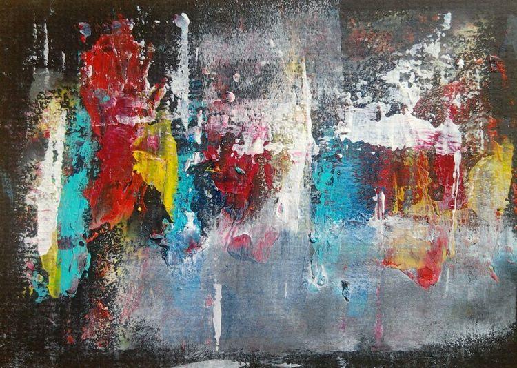 Farbfeldmalerei, Abstrakt, Spachteltechnik, Malerei, Nähe