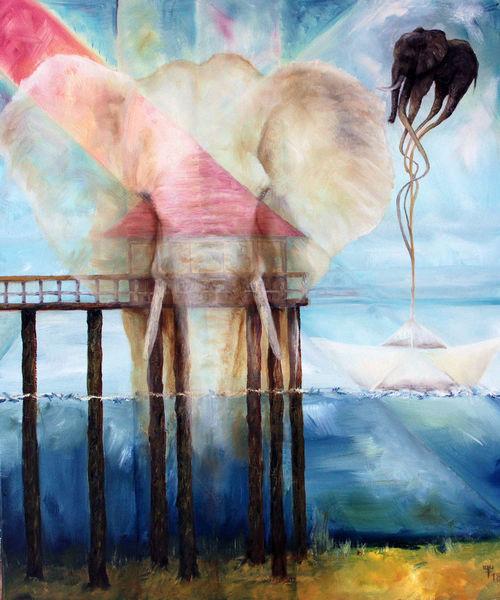 Elefant, Noah, Tränen, Malerei, Weinen