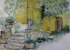 Aquarellmalerei, Grafik, Aquarell, Garten