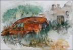 Ruine, Aquarellmalerei, Wrack, Grafik