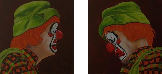 Malerei, Figural, Clown