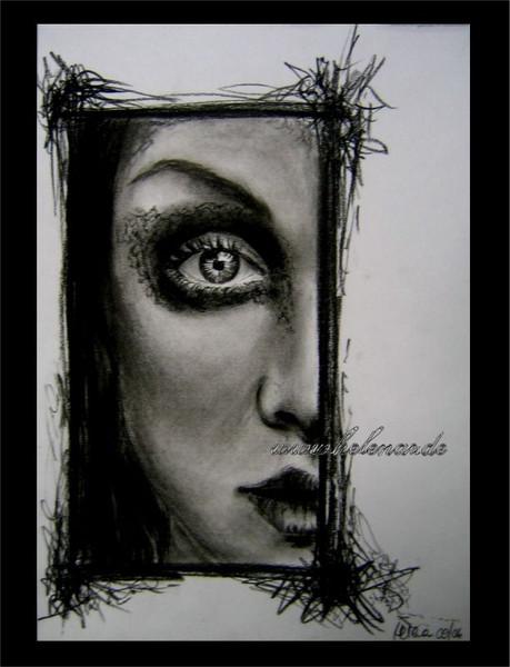 Portrait, Rahmen, Zeichnung, Zeichnungen