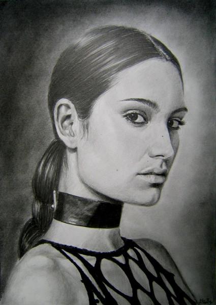 Zeichnung, Ruschig, Helisartpage, Portrait, Zeichnungen,