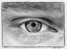 Zeichnung, Augen, Ruschig, Portrait