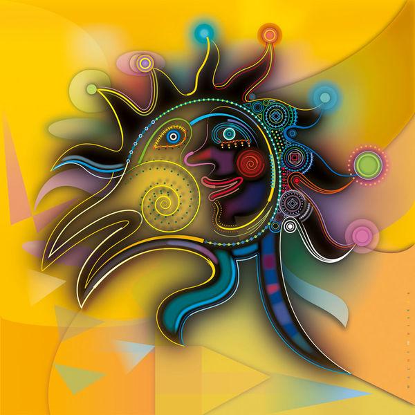 Gelb, Brand, Symbolisch, Vektorgrafik, Klimawandel, Leidenschaft