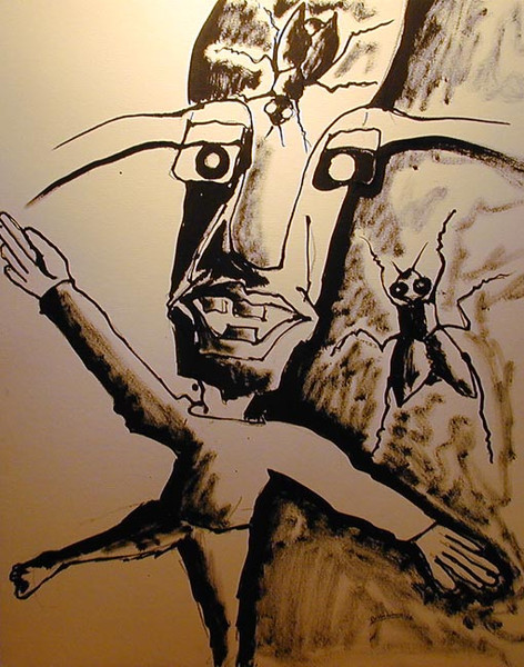 Figural, Malerei, Fliegen