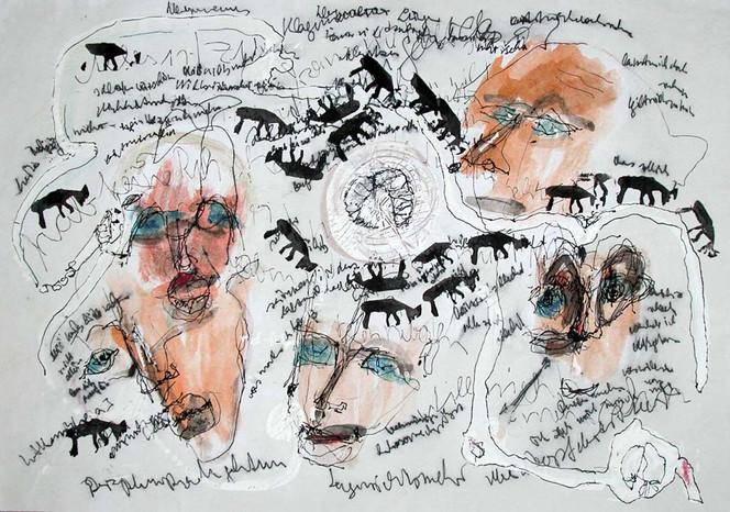 Tiere, Malerei, Gesicht