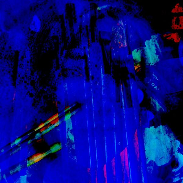 Gesicht, Pinsel, Rauchwolken, Blauschwarz, Digitale kunst