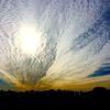 Wolkenformation, Sonne, Silhouetten, Himmel