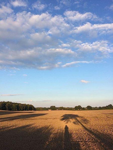 Wolken, Schatten, Feld, Fotografie