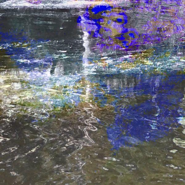 Wasser, See, Farben, Zeichen, Mischtechnik
