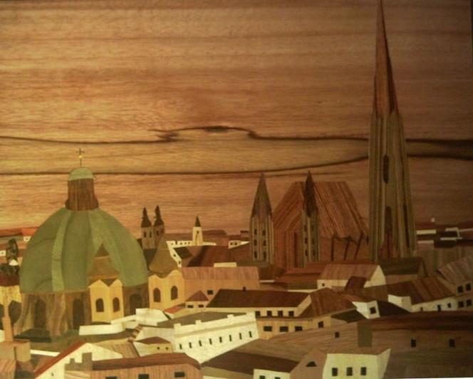 Marketerie, Kunsthandwerk, Stephansdom, Holz, Intarsienbilder, Wien