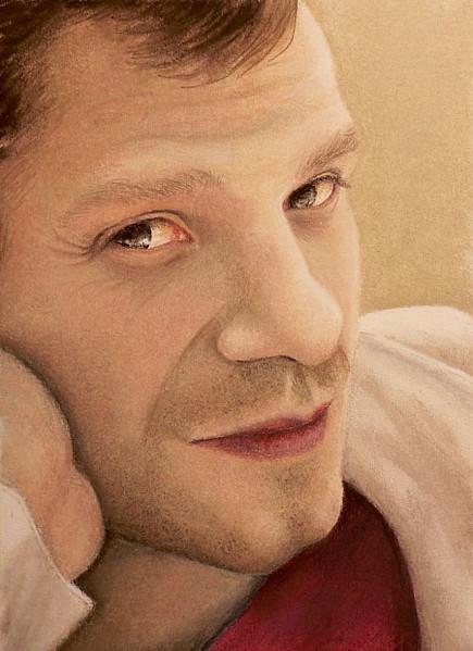 Malerei, Figural, Portrait, Pastellmalerei
