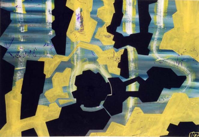 Entstanden, Malerei, Abstrakt, Zeit,