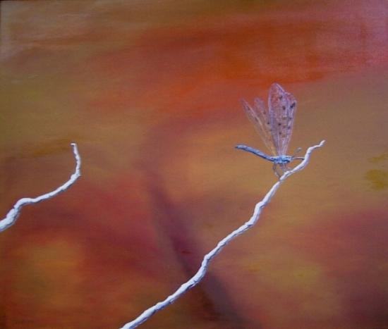 Malerei, Armeinsenjungfer, Stillleben