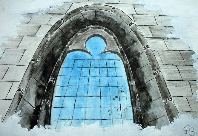 Zeichnung, Skizze, Schwere, Kirche, Geburt, Zeichnungen