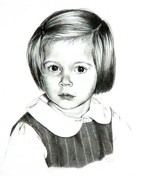 Portrait, Zeichnung, Zeichnungen, Mädchen