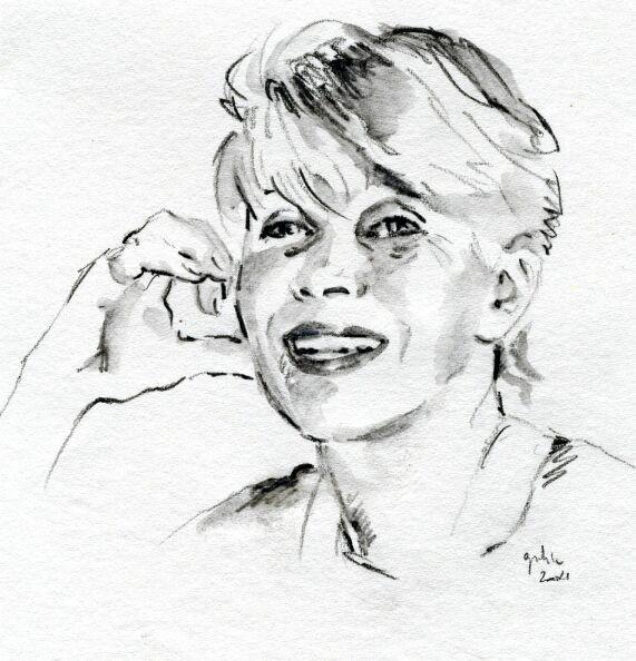 Porträtskizze, Skizze, Portraitzeichnung, Zeichnung, Zeichnungen