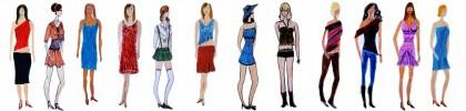 Mode, Kinderzeichnung, Zeichnungen