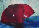 Wasser, Malerei, Elefant, Figural