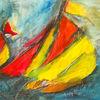 Landschaft, Malerei, Skizze