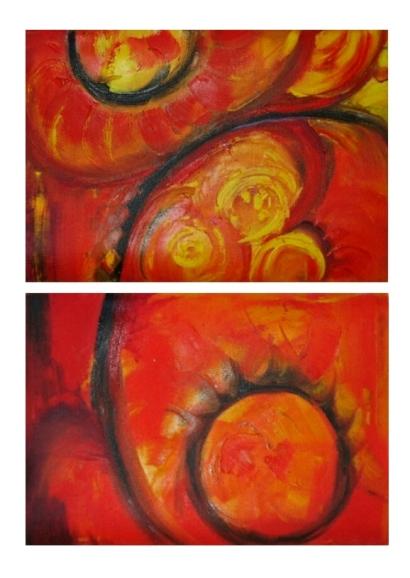 Abstrakt, Malerei, Rot, Planet