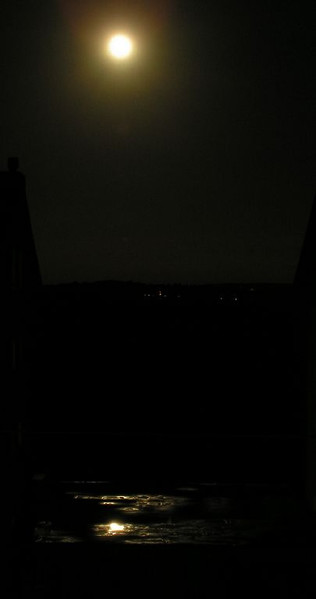 Spiegelung, Fotografie, Landschaft, Mond