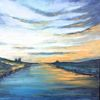 Nordisch, Küste, Nordsee, Malerei