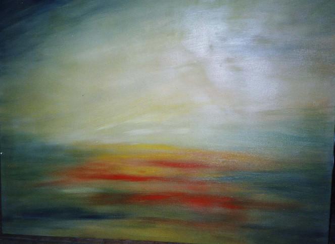 Abstrakt, Malerei, Sommer, Abend, Dämmerung, Licht