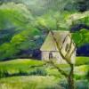 Malerei, Kapelle, Spaziergang, Landschaft