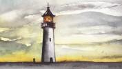 Malerei, Meer, Strand, Landschaft