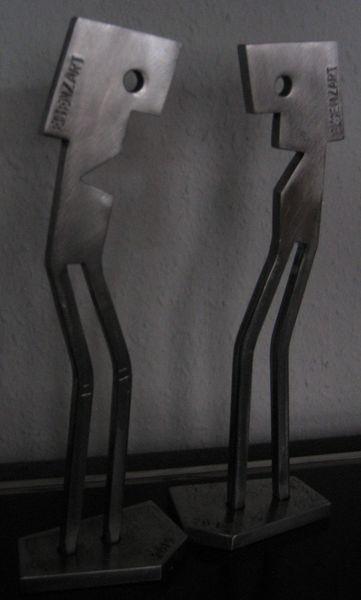 Eisen zart, Stahlskulptur, Stahl, Eisenfigur, Kunsthandwerk,