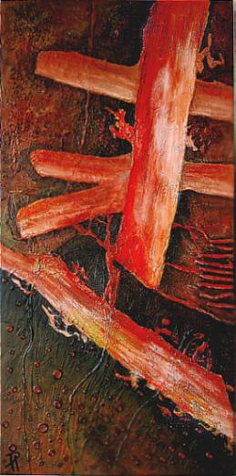 Malerei, Verschwunden3, Collage, Abstrakt, Spurlos