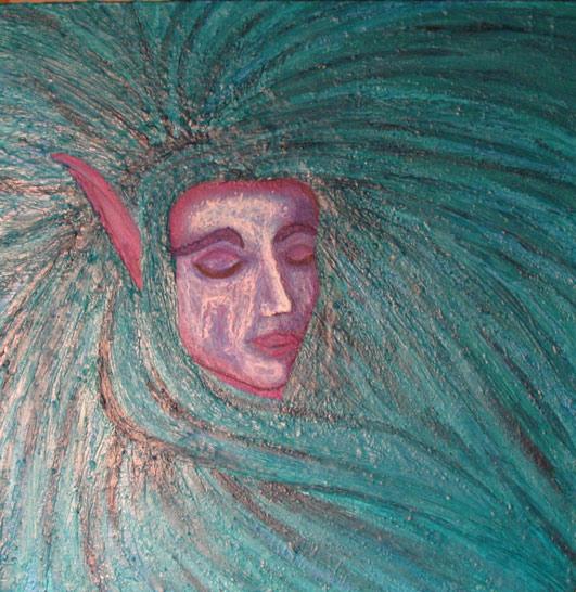 Malerei, Welt, Samyra, Elfen, Wicken, Warcraft