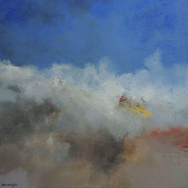 Meer, Abstrakt, Wolken, Lyrical, Malerei
