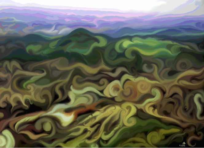 Malerei, Digital, Landschaft, Digitale kunst,