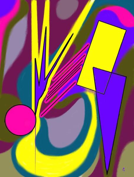 Geometrie, Abstrakt, Malerei, Computermalerei, Linie, Digital