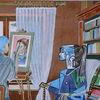 Interrieur, Aquarellmalerei, Menschen, Aquarell