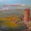 Zeitgenössischer maler, Menschen, Wolken, Landschaft
